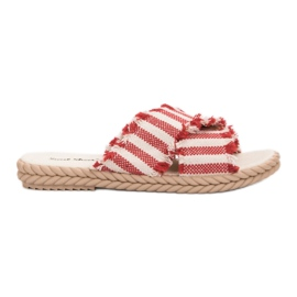 Seastar Slippers With Belts red