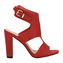 Ideal Shoes red Sexy High Heels