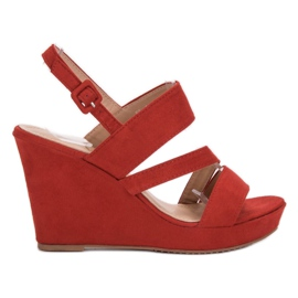 SHELOVET red Sandals at Koturna
