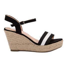 Primavera black Casual wedge sandals