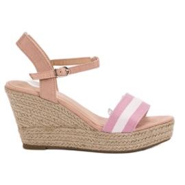Primavera pink Casual wedge sandals