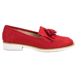 VICES red moccasins