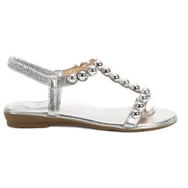 Small Swan grey Slip-on Sandals