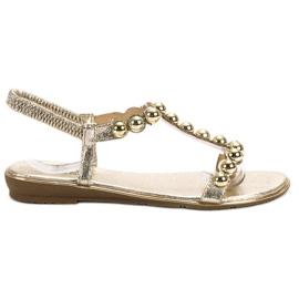 Small Swan yellow Slip-on Sandals