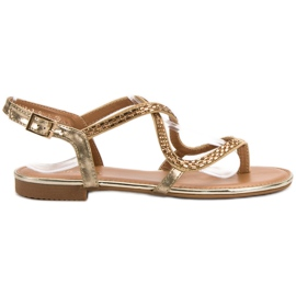 Small Swan yellow Japanese sandals