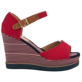 Primavera red Sandals at Koturna