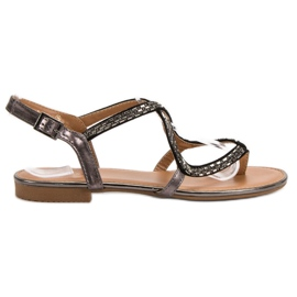 Small Swan grey Japanese sandals