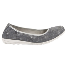 Filippo Leather ballerinas grey