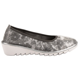 Filippo grey Light gray Leather Ballet shoes