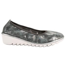 Filippo grey Dark gray Leather Ballet shoes