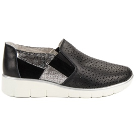 Filippo Black Shoes Slip On