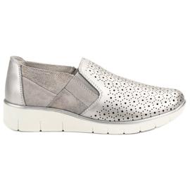Filippo grey Silver Slip On shoes