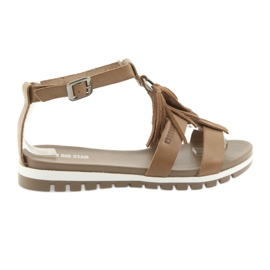 Brown Big Star boho shoes 274958