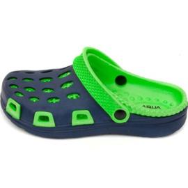Aqua-speed slippers Silvi Jr col 48 green navy blue