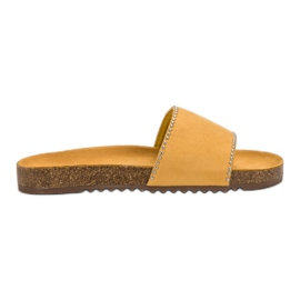 Goodin yellow Suede Flip