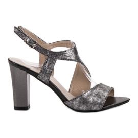 Goodin grey Silver Sandals
