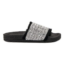 Comfortable VICES slippers black