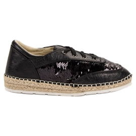 Shoes with VICES sequins black