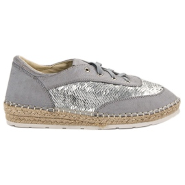 Shoes with VICES sequins grey