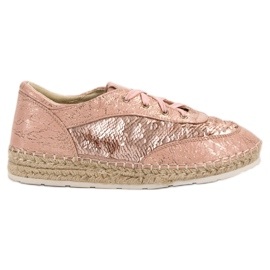 Shoes with VICES sequins pink