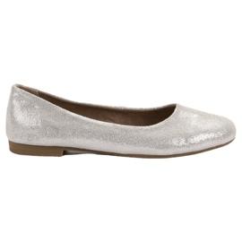 Grey Leather ballerina VINCEZA