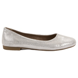 Leather ballerina VINCEZA grey