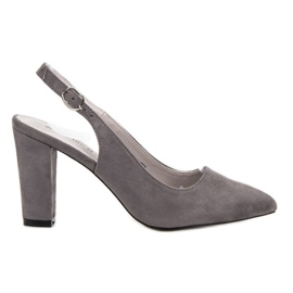 Goodin grey Pumps With Open Heel