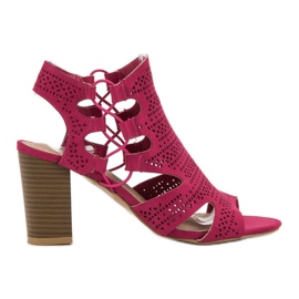 Goodin pink Fashionable Sandals Fuchsia