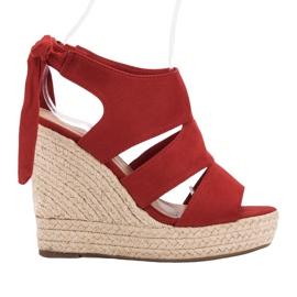 Cm Paris Red Sandals On Wedge