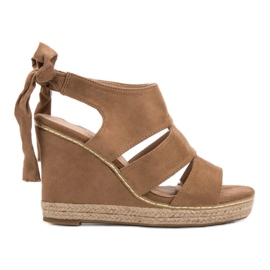 Anesia Paris brown Weddered Sandals