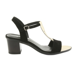 Sandals for women Anabelle 1447 black / gold