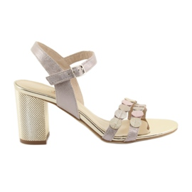 Women's shoes silvery pink Gamis 3658