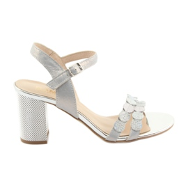 Women's silvery sandals Gamis 3658