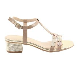 Women's sandals stripes Gamis 3661 beige