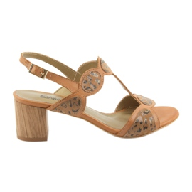 Brown Women's sandals toffee / panther Anabelle 1352