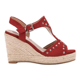 Kylie red Sandals with jets
