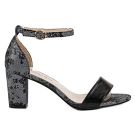 Goodin grey Stylish high-heeled sandals