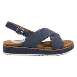 Goodin blue Suede Sandals