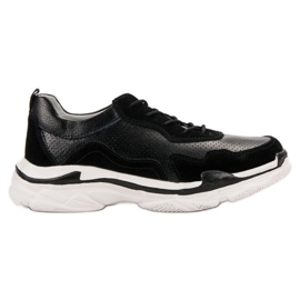 Goodin Black Leather Sneakers