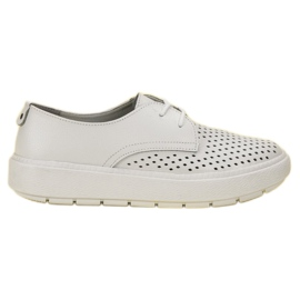 Goodin white Light Leather Shoes