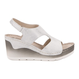 Goodin Comfortable Wedge Sandals white