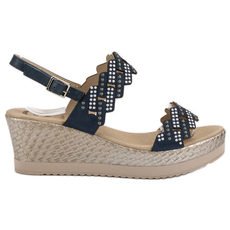 Aclys Light Sandals on Wedge blue