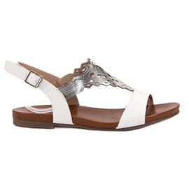 Kylie white Stylish Flat Sandals