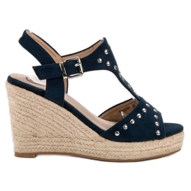 Kylie navy Sandals with jets