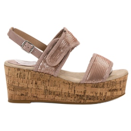 Kylie pink Sandals with Velcro