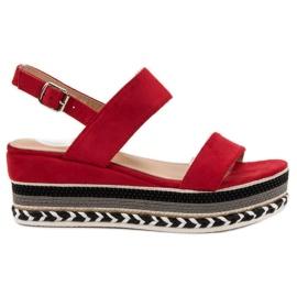Primavera red Sandals Boho Wedge