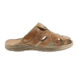 Naszbut brown Men's slippers 051 beige