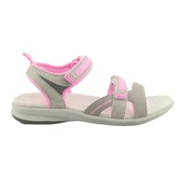 Girls' sandals American Club HL12 gray