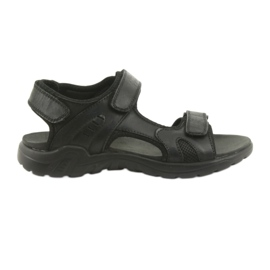 American Club American leather sports sandals CY11 black