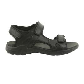 American Club American leather sports sandals CY11 black
